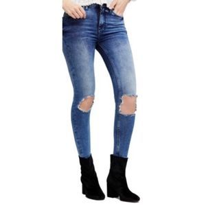 Free People High waist ankle skinny jeans A0160